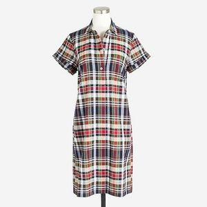 J. Crew plaid shirt dress